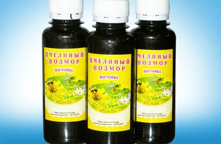 Настой пчелиного подмора - рецепты